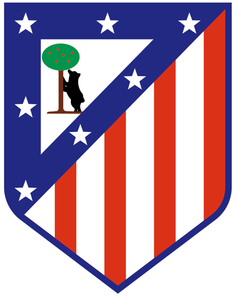 Vinilos Decorativos: Escudo Atlético de Madrid Color