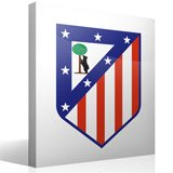 Vinilos Decorativos: Escudo Atlético de Madrid Color 3