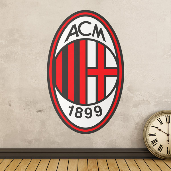 Vinilos Decorativos: Escudo AC Milan Color
