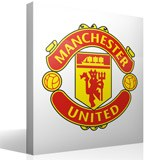 Vinilos Decorativos: Escudo Manchester United Color 3