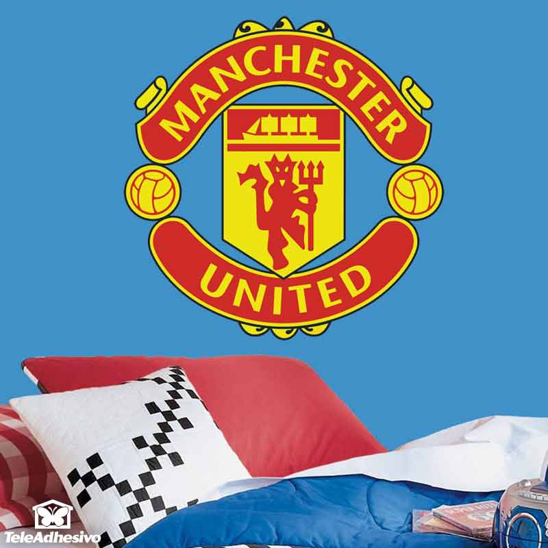 Vinilos Decorativos: Escudo Manchester United Color
