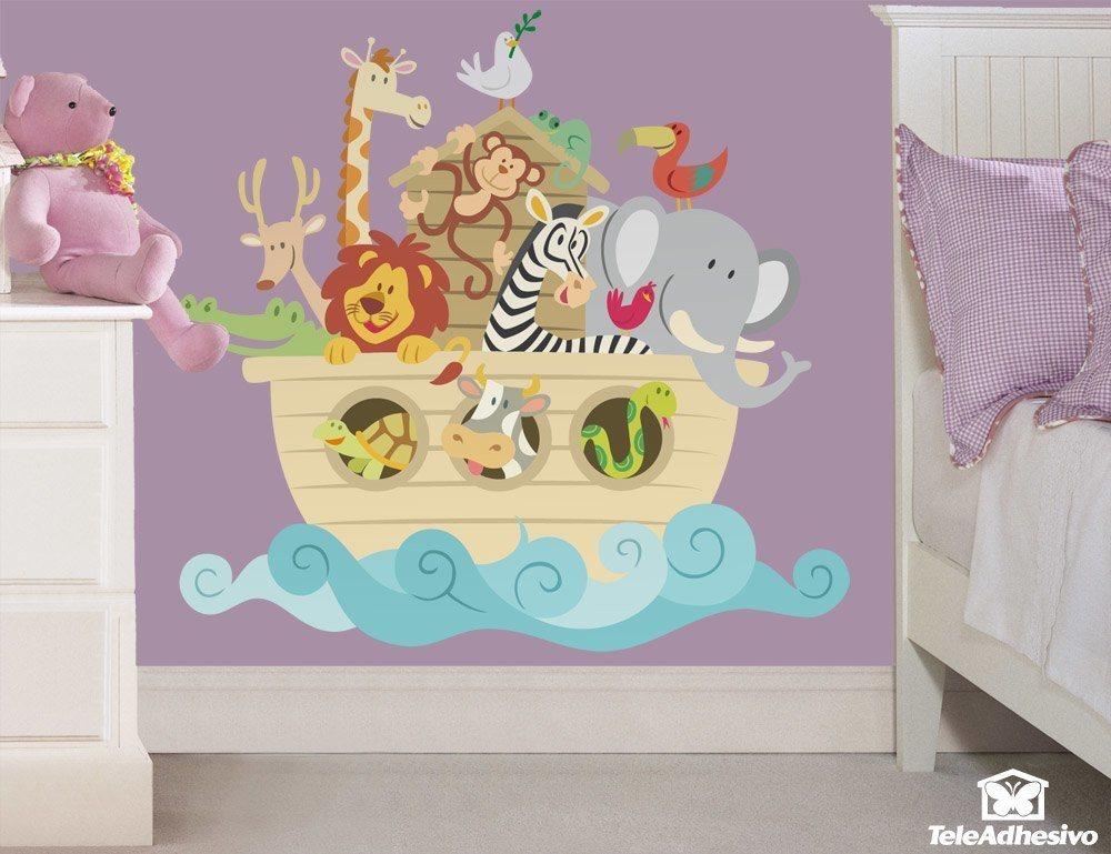 El arca de noe color for Adhesivos de pared infantiles