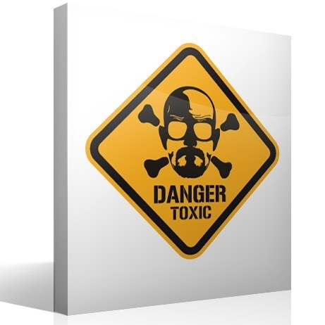 Vinilos Decorativos: Heisenberg Danger Toxic Color