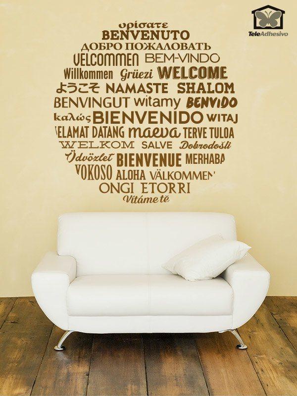 Bienvenido en idiomas - Vinilo welcome ...