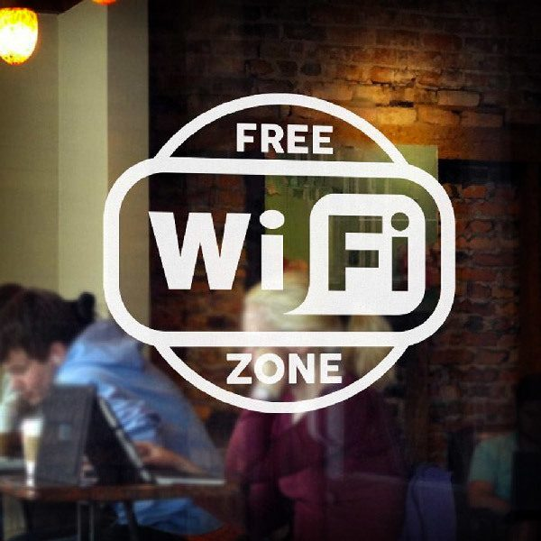 Vinilos Decorativos: Free Wifi Zone