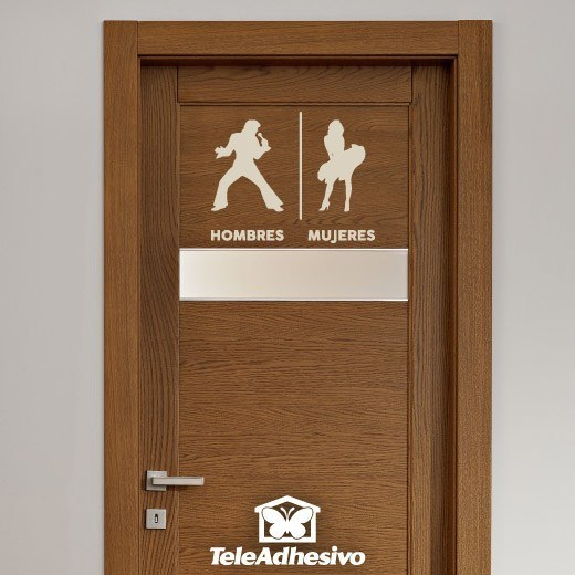 Cortinas De Baño Marilyn Monroe:Spanish Restroom Sign Decal