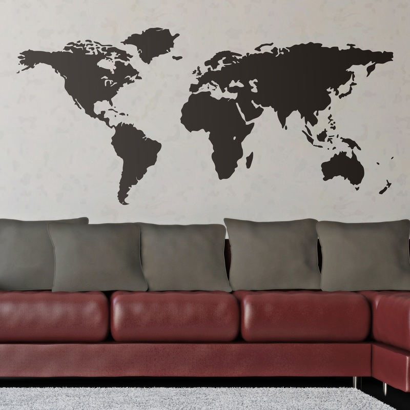 Mapamundi o mapa del mundo - Vinilo mapa mundi ...