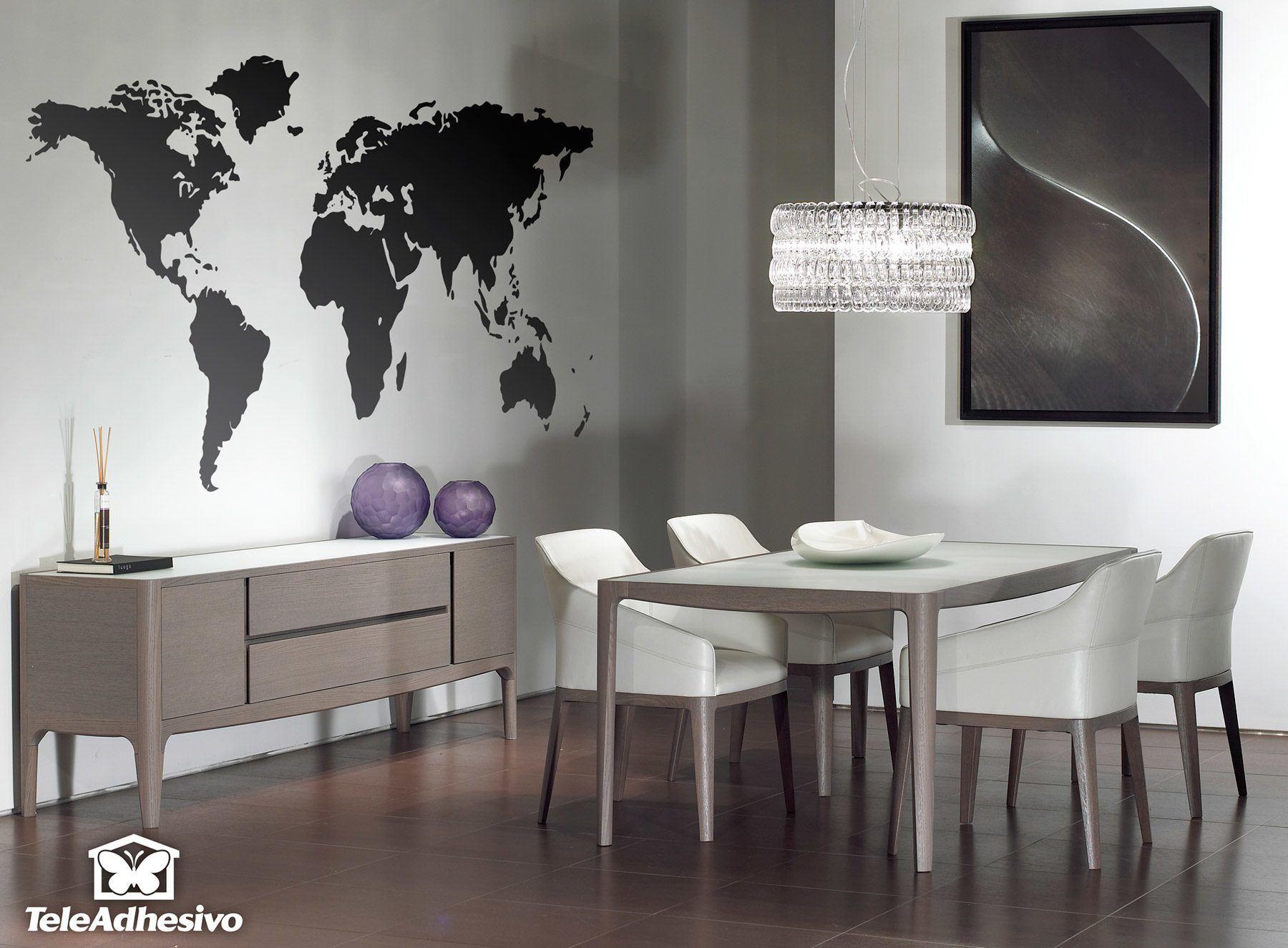 Vinilo decorativo mapa mundi de pared for Tu vinilo decorativo