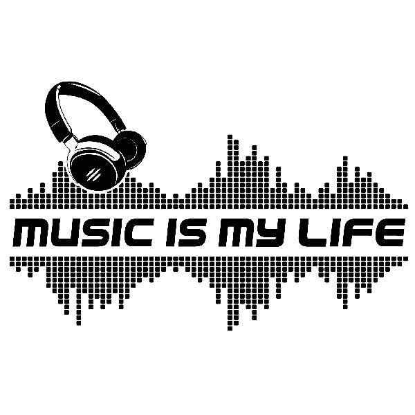 Vinilos Decorativos: Music is my life