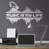 Vinilos Decorativos: Music is my life 2
