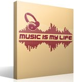 Vinilos Decorativos: Music is my life 3