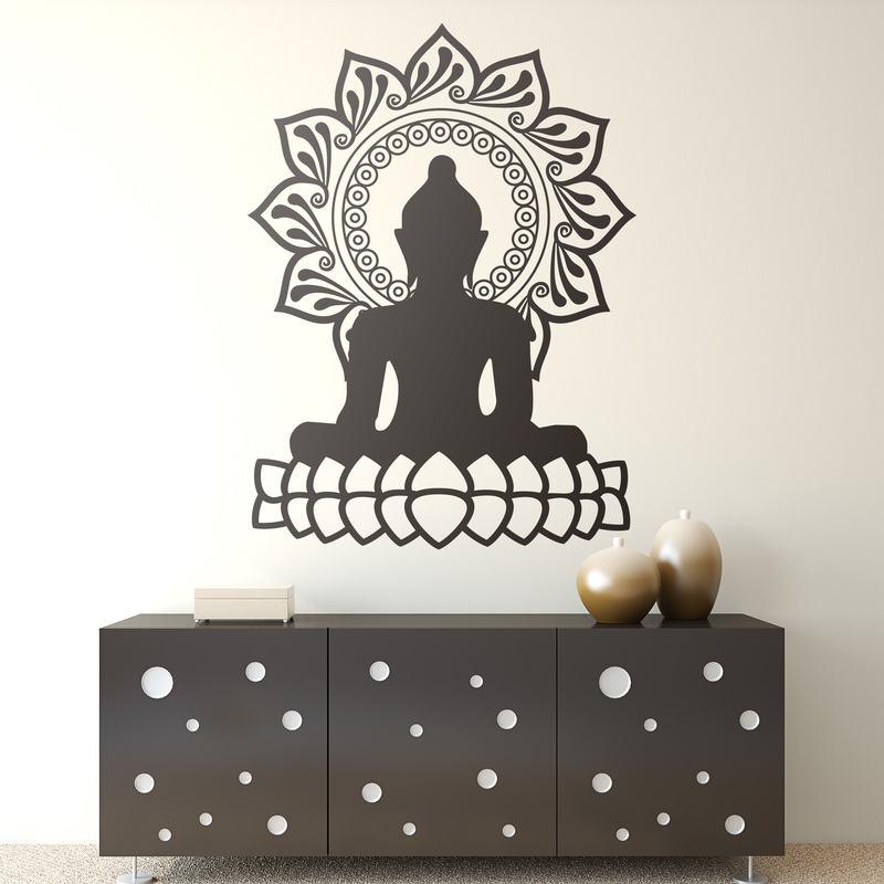 Buda es s mbolo de espiritualidad y flor de loto es suerte - Vinilos decorativos zen ...