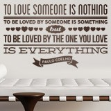 Vinilos Decorativos: To love someone is nothing... 2
