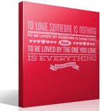 Vinilos Decorativos: To love someone is nothing... 3