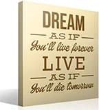Vinilos Decorativos: Dream as if you´ll live forever 3