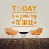 Vinilos Decorativos: Today is a good day to smile 2