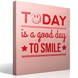 Vinilos Decorativos: Today is a good day to smile 3