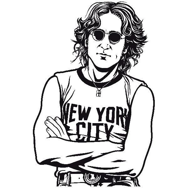 Line Drawing John Lennon : John lennon