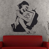 Vinilos Decorativos: Banksy The End 2