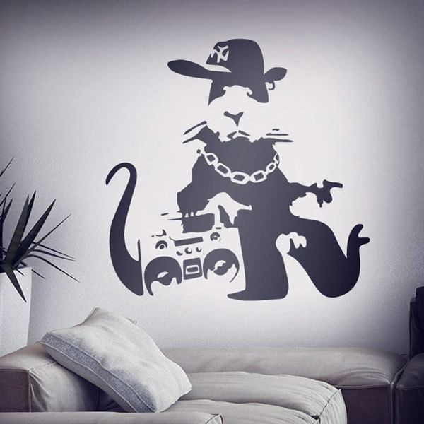 Vinilos Decorativos: Banksy NYC Gangster Rat