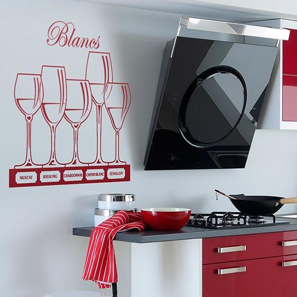 Copas de vino blanco for Vinilos decorativos blancos