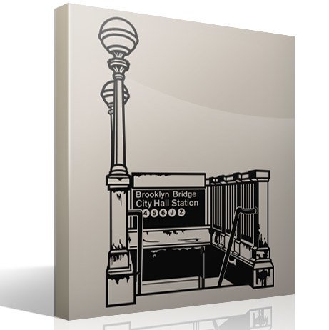 Vinilos Decorativos: Subway Brooklyn Bridge City Hall Station