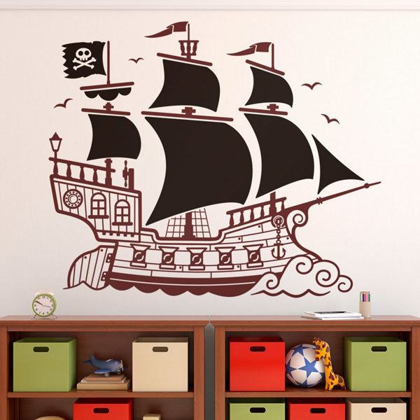 vinilos infantiles gran barco pirata