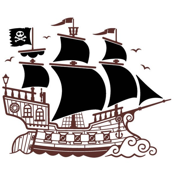 Vinilos Infantiles  Gran Barco Pirata ae0717da49c