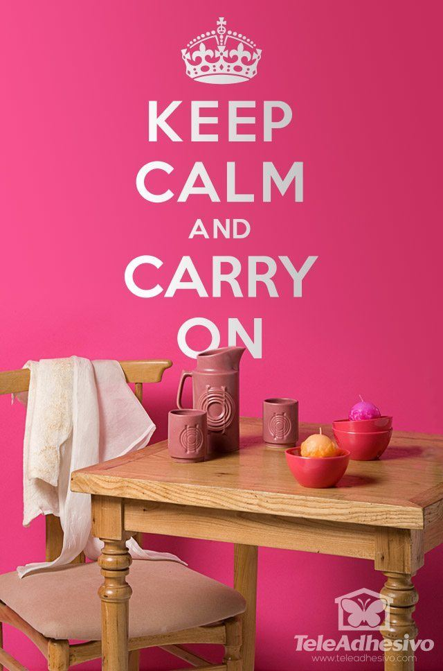 Vinilos Decorativos: Keep Calm And Carry On