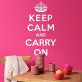 Vinilos Decorativos: Keep Calm And Carry On 2