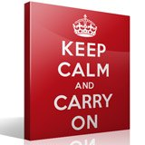 Vinilos Decorativos: Keep Calm And Carry On 3