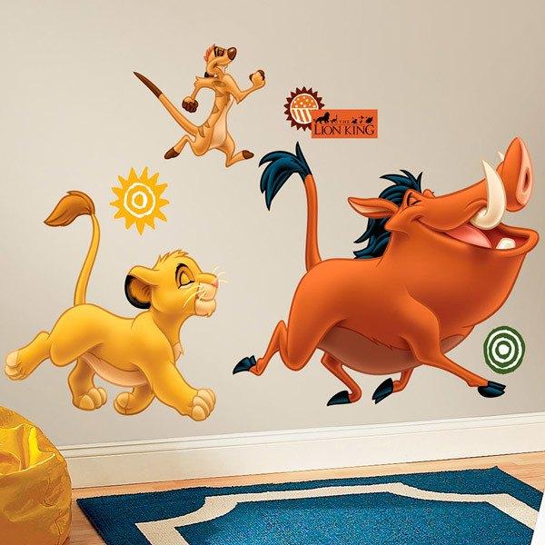 Baby Tv Rug: Vinilo Decorativo Infantil De Simba, Timón Y Pumba