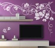 Vinilos Decorativos: Gran Floral con Mariposas 2