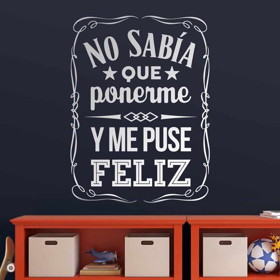 Vinilos con frases motivadoras originales en teleadhesivo for Vinilos decorativos sobre musica