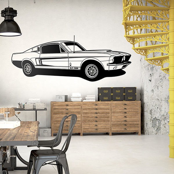 Vinilos Decorativos: Ford Mustang Shelby GT 500 0