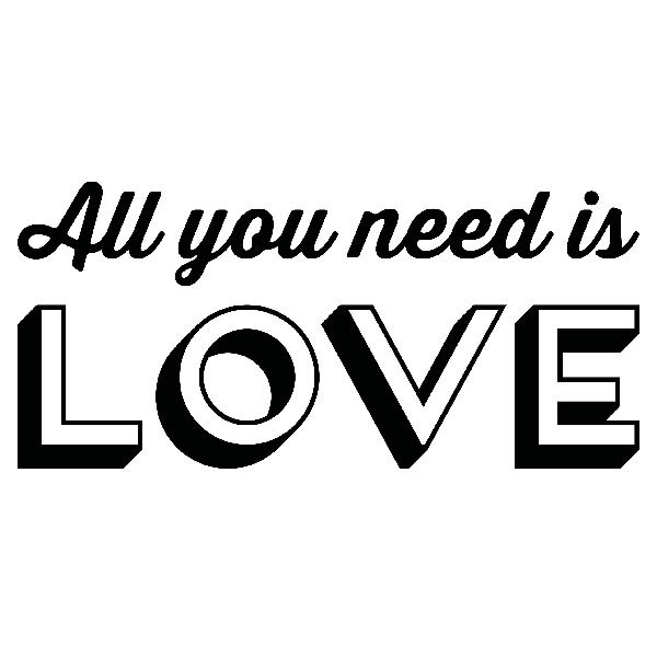 Vinilos Decorativos: All you need is love
