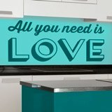 Vinilos Decorativos: All you need is love 2