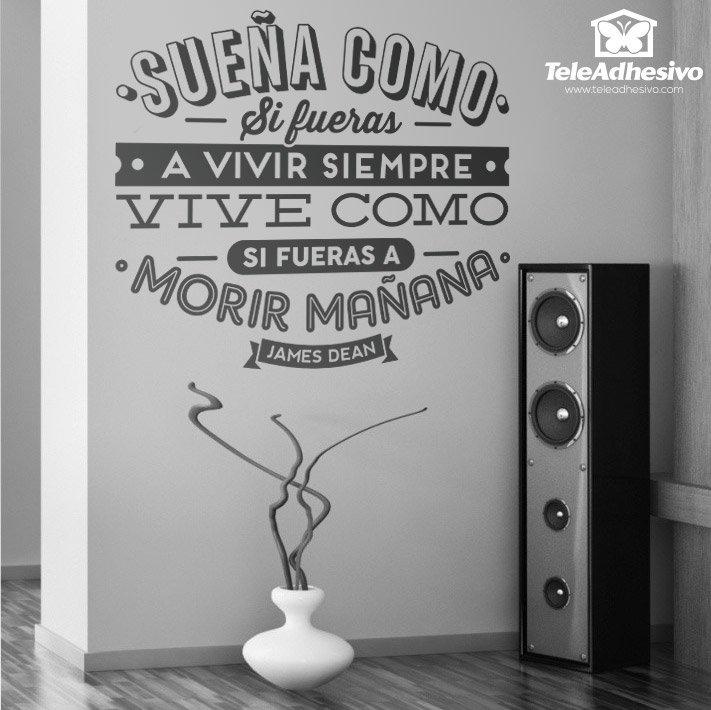 Venta de pegatinas con frases originales en teleadhesivo for Vinilos decorativos sobre musica