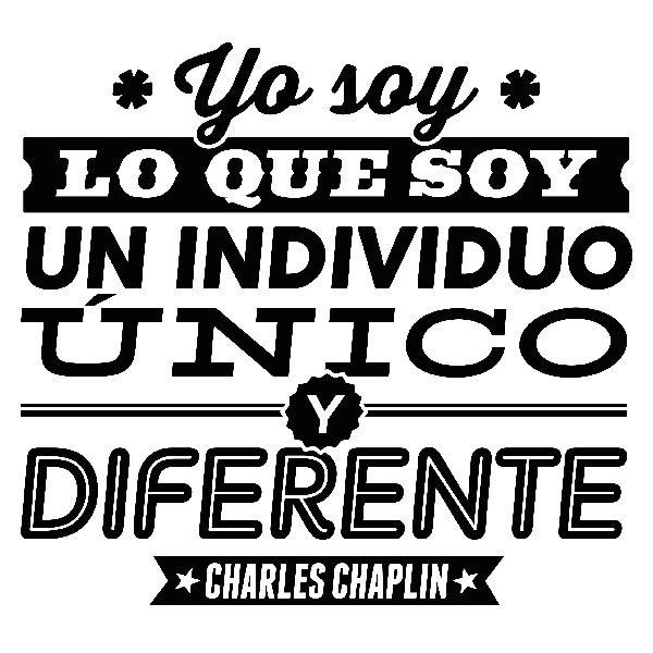 Vinilo Decorativo Yo Soy Lo Que Soy Charles Chaplin