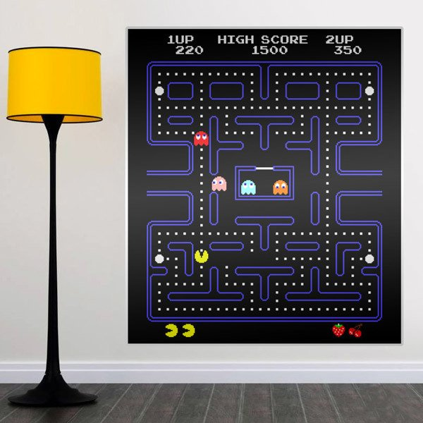 Vinilos Decorativos: Pac-Man Arcade Game Color