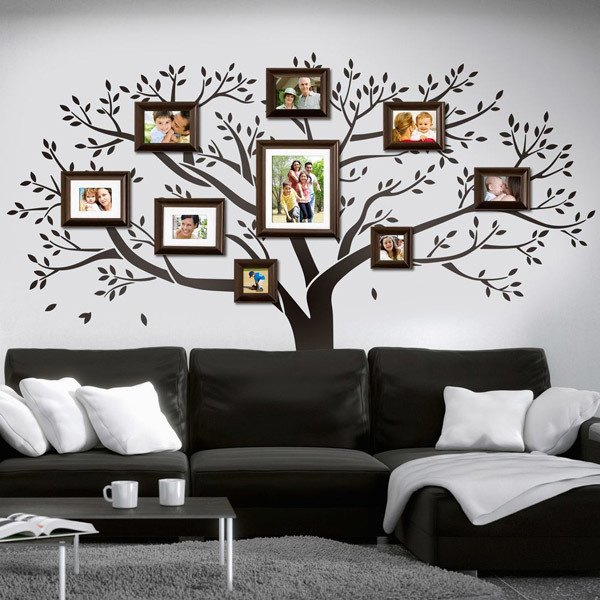 Vinilo decorativo de rbol geneal gico familiar - Vinilo decorativo arbol ...