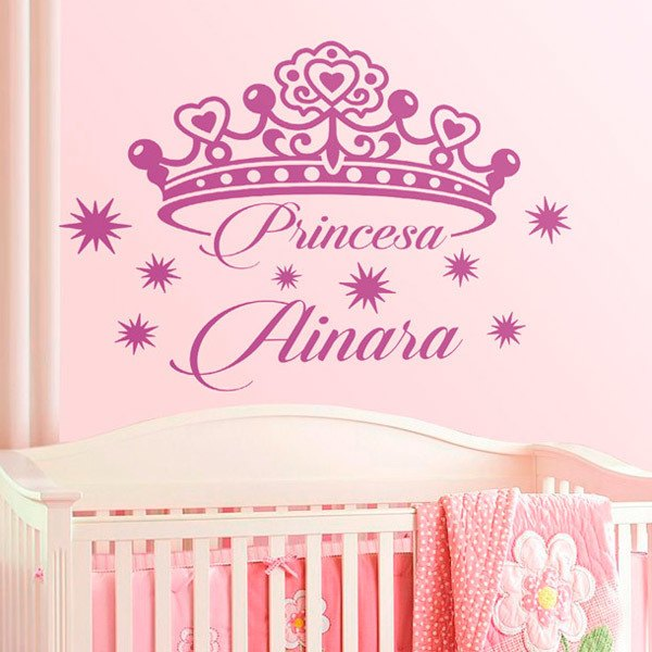 Vinilos para ni as y princesas hasta 14 a os teleadhesivo for Pegatinas pared nina