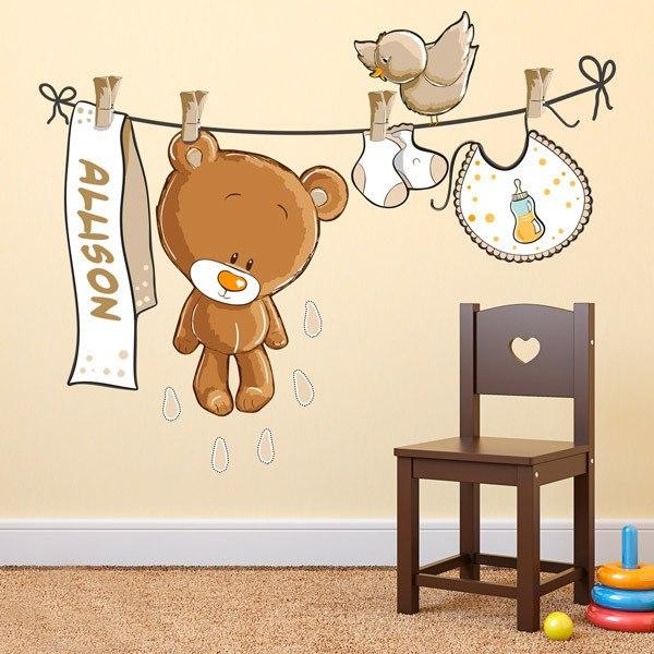 Vinilos infantiles de animales para beb s teleadhesivo for Vinilo habitacion bebe nina