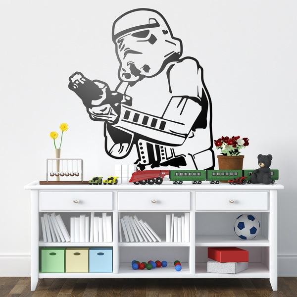 Vinilos con soldados stormtropper de la saga star wars - Lego wandtattoo ...