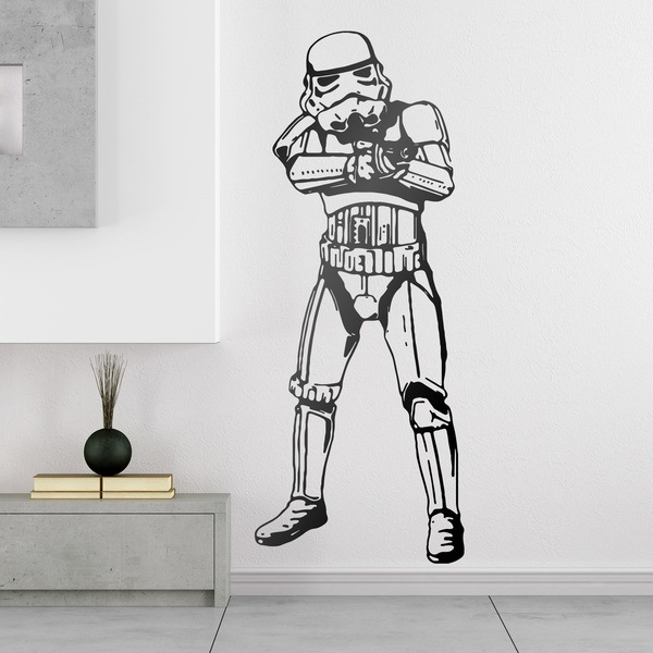 pegatinas de vinilo de los stormtrooper en teleadhesivo. Black Bedroom Furniture Sets. Home Design Ideas