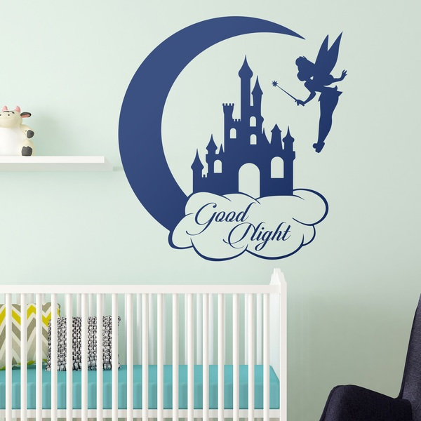 Vinilos Infantiles: Campanilla, Castillo y Luna. Good Night