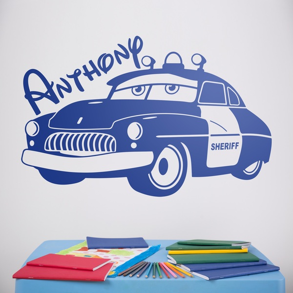 Nombre vinilo infantil del sheriff de radiador springs for Precios de vinilos infantiles