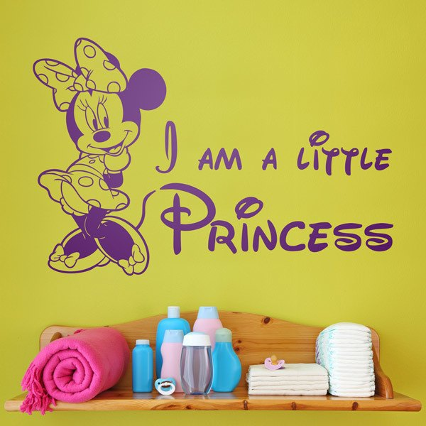 Vinilos Infantiles: Minnie, I am a little princess