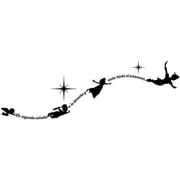 Vinilo Decorativo Infantil Tipográfico Peter Pan En Español