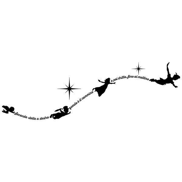 Vinilo Decorativo Infantil Tipográfico Peter Pan En Italiano